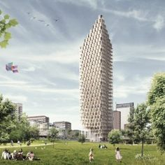 C. F. Møller designs world's tallest  wooden skyscraper: will be very interested to see if this project actually gets built