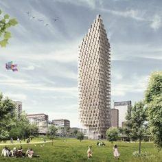 CF Møller designs world's tallest  wooden skyscraper