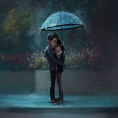 Zac Retz Art: rain