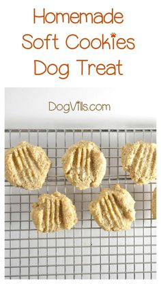 Soft Doggie Cookies for Older Dogs with Allergies