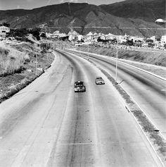 Así era la Autopista El Valle, año 1950...