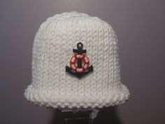 Knitted Baby Hat  Sailing Hand Knit Baby Hat with by UpNorthKnits, $26.00