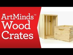 ArtMinds® Wood Crate Carry All