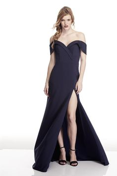 303e5a9ca3d6 Tinaholy Couture T17115 Navy Off Shoulder Formal Gown Dress: Vendor:  Tinaholy Couture Type: One Honey Boutique