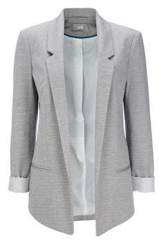Grey Ponte Blazer Jacket  add accessories by visiting www.paparazziaccessories.com/22758