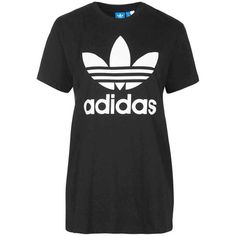 Trefoil Tee by Adidas Originals (710 CZK) ❤ liked on Polyvore featuring tops, t-shirts, trefoil tee, cotton t shirt, cotton tee, topshop and adidas trefoil t shirt