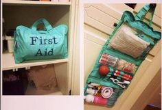 Another great use for the Timeless Beauty bag: A First Aid kit!!