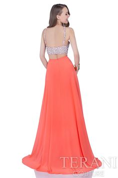 Fully+embellished+prom+gown+consisting+of+a+halter+crop+top+with+keyhole+cutout+at+the+bust.+This+prom+dress+is+finished+with+a+floor+length+chiffon+skirt.