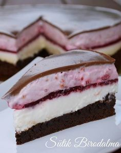 Dobos Torte Recipe, Cake Cookies, Cookie Recipes, Breakfast Recipes, Food And Drink, Sweets, Snacks, Chocolate, Cheesecake