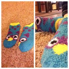 Owl fluffy socks!