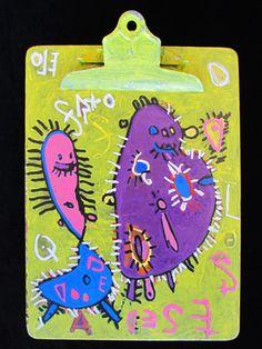 """Hairy Bacteria""  By Goodwill Art Studio & Gallery artist, Robert Kistler"