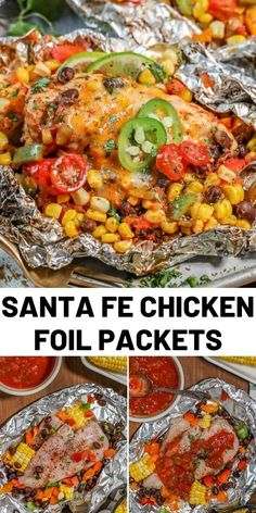 Chicken Foil Packets are the perfect easy, breezy summer grilling meal! With hea. - Chicken Foil Packets are the perfect easy, breezy summer grilling meal! With heart-healthy pieces o - Easy Pasta Recipes, Easy Chicken Recipes, Easy Meals, Easy Grill Recipes, Healthy Meals With Chicken, Chicken Foil Packets, Grilled Foil Packets, Foil Packet Meals, Oven Foil Packets