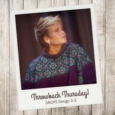 Bold patterns and inspiring new colour trends were part of the reason why this #dropsdesign pattern was a huge success back in the eighties. Don't you see yourself wearing it today? #throwbackthursday