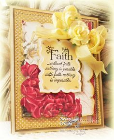 July Release Sneak Peeks: Check out  Betty's card using 'Flowering Faith.'