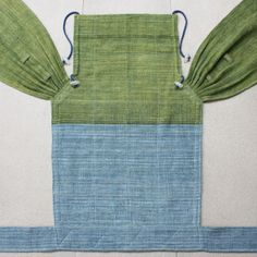 BaBy SaBye Wrap Mei Tai sling hand-woven two-side with a hood TODDLER SIZE model24Green/Blue