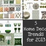 5 Home Decor Trends for 2013 - vintage and graphic patterns