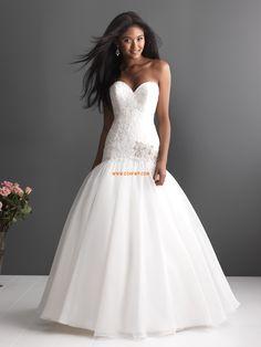 Escote Corazón Elegante Natural Vestidos de novias 2014
