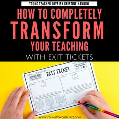 Whether they're completed on a piece of paper, a tablet, or a whiteboard, exit tickets are a powerful tool to use in your classroom. Exit tickets are formative assessments that… Learning Goals, Student Learning, Fun Learning, Middle School Ela, School Fun, School Stuff, School Ideas, Levels Of Understanding, Understanding Yourself