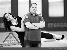 Silly engagement pictures are so much fun! #arisingimages #engagement #photoshoot #silly #couple #fun