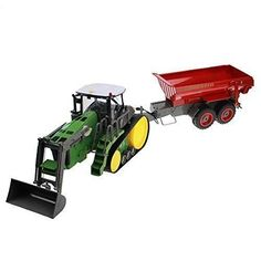 Hugine 8 Channel Crawler Loader Remote Control Farm Tractor With Controllable Skip Bucket -- Learn more by visiting the image link.