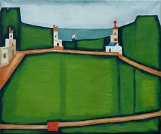 Jerzy Nowosielski 'Pejzaż grecki' 1974 Contemporary Paintings, Printmaking, Drawings, Illustration, Artists, Inspiration, Geo, Mixed Media, Polish