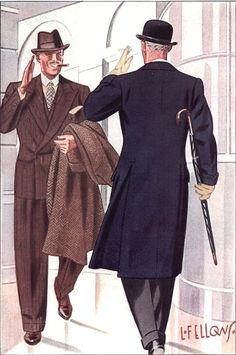 ... overcoat est parmi les plus beaux qu'il m'ait été donné de voir, en tous cas sur un dessin d'Apparel Arts. Je pense que je vais bientôt passer à l'acte…