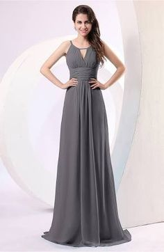 Pewter Bridesmaid Dress Long Wedding Chiffon For Guest Gown Evening Maternity Maxi Semi Formal Prom Homecoming Floor Length Plus Size Petite Winter
