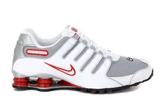 NIKE SHOX NZ OG Mens 10 White Silver Red 378341 104 #NikeShox #Athletic