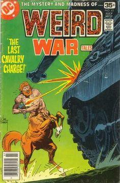 Centaurs - War - Tanks - Man Beast And Metal - An Unusual Battle - Joe Kubert Dc Comic Books, Vintage Comic Books, Vintage Comics, Comic Book Covers, Comic Art, Ec Comics, Marvel Comics Superheroes, Horror Comics, Joe Kubert