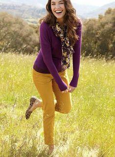 purple, mustard & leopard