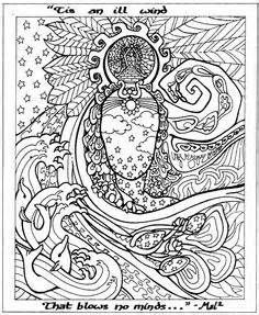 Steampunk Coloring Pages For Adults