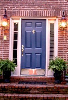 front door paint colors with red brick