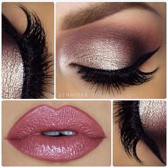 Idée Maquillage 2018 / 2019 : Gorgeous Pink Lips and Eye Makeup for Prom 2016 - Make Up Time Cute Makeup, Gorgeous Makeup, Pretty Makeup, Makeup Looks, Makeup Style, Glamorous Makeup, Cheap Makeup, Perfect Makeup, Prom Eye Makeup
