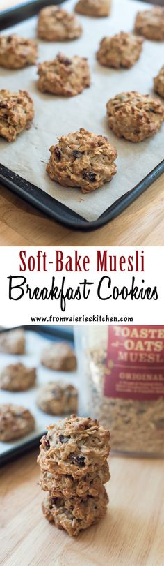 Cookies for breakfast? When they are packed full of wholesome goodness the answer is a BIG yes! ~ #mueslirecipes #muesli #sp http://www.fromvalerieskitchen.com/