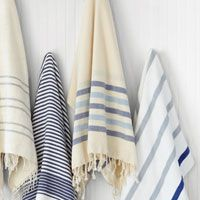 Enter for a chance to win one (1) Poketo Turkish Pestemal Towel – Blue Stripes on Natural. #sweeps