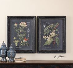Wood Frame Has A Distressed Black Finish Dimensions (inches): 2.375D, 24.625W, 32.625H.