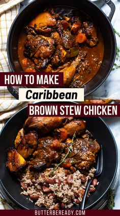 Jamaican Brown Stew Chicken, Oxtail Recipes, Meat Recipes, Cooking Recipes, Carribean Food, Caribbean Recipes, Chicken Breast Recipes Healthy