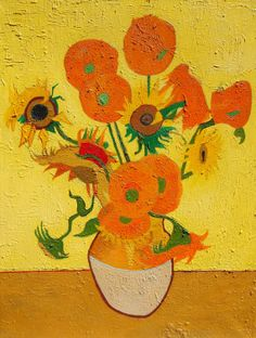 Sunflowers by Vincent van Gogh 24 x 32 Still by JohnKlineArtwork, $300.00