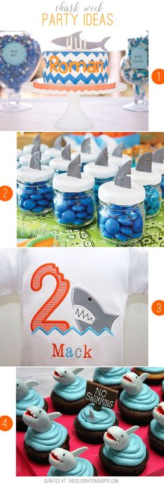 Shark Week Party Ideas | curated at TheCelebrationShoppe.com #sharkparty #sharkweek #oceanparty