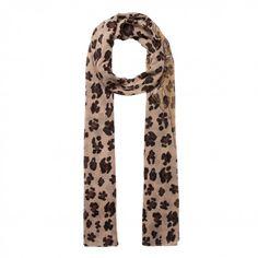 8c45886fc7f1d1 Schal mit Leopardenmuster und Bambi beige | Der trendige Schal von CODELLO  ist ein wahrer Eyecatcher