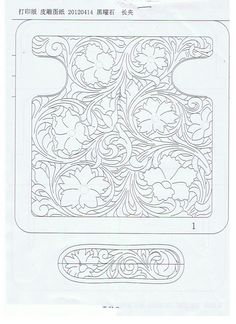 Wallet tooling pattern... Download and size the shell to 19 cm in height and you'll have a ready template.