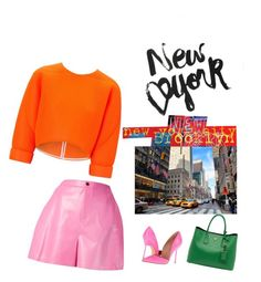 """New Yorker"" by carlafashion-246 ❤ liked on Polyvore featuring Maticevski, Kurt Geiger, Prada and The Artwork Factory"