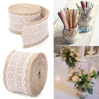 Specifications: * Excellent quality hessian and lace ribbon * The edges have been over-locked for a