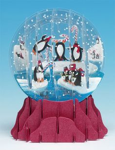 3D Snow Globe card