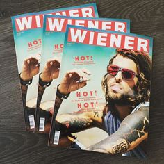 Nice shades on the cover of the WIENER magazine!  we like. #spotsnapr #mauna kea #eyewear #fashion #streetboarding #streetwear #sunglasses #summer #wiener #tattoo #model #wienermagazine #cover #shades #austria #vienna #graz