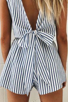 Records Stripe Shorts