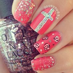 oh yes the cross is a must...my next nail sesh this is happening!
