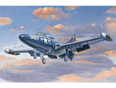 The Hobby Boss Grumman F9F-2 Panther in 1/72 scale from the plastic aircraft model range accurately recreates the real life US carrier-borne jet-fighter. This plastic aircraft kit requires paint and glue to complete.