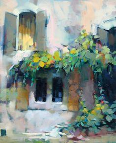 Windows in Goult by Trisha Adams Oil ~ 30 x 24