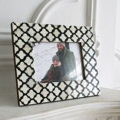 Black and White Bone Frame - Photo Frames & Holders - Home Accessories